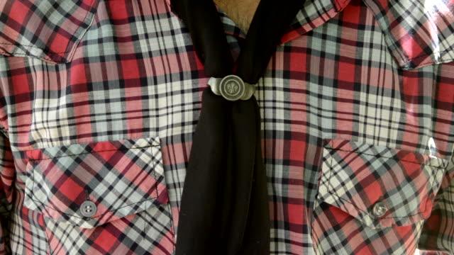 Buenos Aires Argentina Gaucho shirt and scarf closeup of cowboy