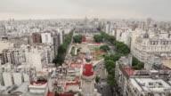 WS, HA Buenos Aires skyline view with Palacio del Congreso de la Nacion / Buenos Aires, Argentina