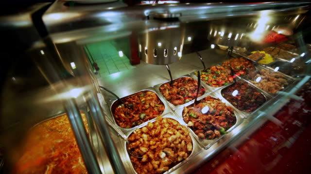 Buffet - variety of  meat courses. Food background