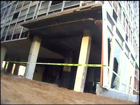 MS Building collapse domino style as explosives detonate / Midland, Texas, United States