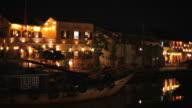 WS PAN Building Illuminated Up at Night / Hoi An, Vietnam