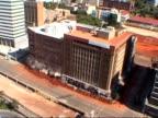 Edificio implosion a Johannesburg