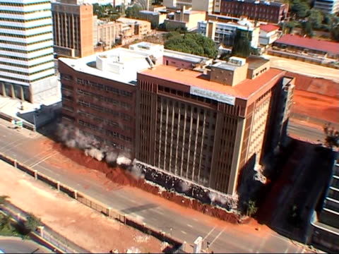 Building implosion in Johannesburg