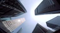 Gebäude-look am Himmel