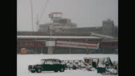 Building place of the new airport 'Otto Lilienthal' Tegel with snow many shots of the main building from inside too the tower additional buildings...