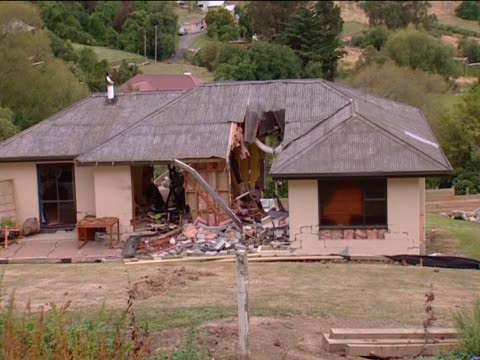 Buildings left in ruins following the earthquake in Christchurch