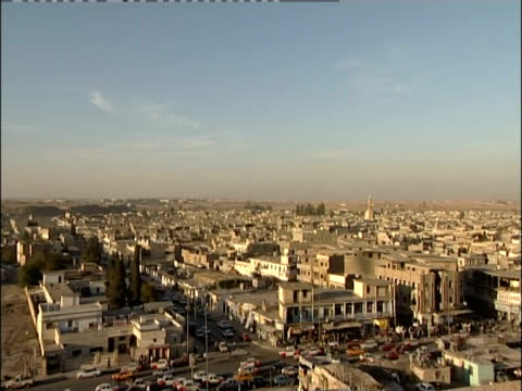 Buildings, mosques and residences crowd the city of Mosul, Iraq.