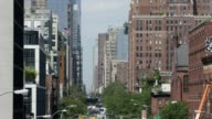 NYC Buildings tilt down to traffic on 23rd Street