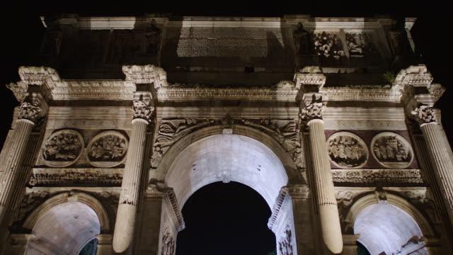 MS LA Built structure of Triumphal arch / Rome, Italy