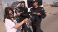 Bulgarian security forces intervene to Bulgarian nationalist groups as they prevent the entering of Turkeyresident Bulgarian voters to the country...