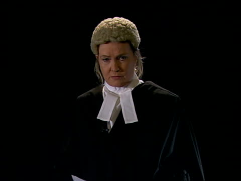 court decision on anonymity ITN INT Reconstruction of Dame Elizabeth ButlerSloss speaking in court SOT these young men are notorious and are at...
