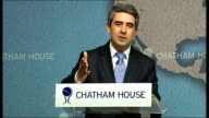 Bulgraian President Rosen Plevneliev addresses Chatham House Southeastern Europe should enlarge its physical regional links and infrastructure We are...