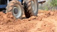 bulldozer bewegen Erde