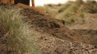 Bulldozer Schieben Sand