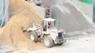 Bulldozer Arbeiten auf Baustelle