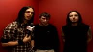 Bullet for My Valentine performance ENGLAND London HMV INT Bullet For My Valentine interview SOT discuss their second album 'Scream Aim Fire' Axl...