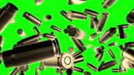 Pallottole volo schermo verde