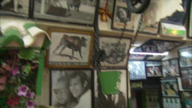 MS PAN Bullfight memorabilia in La Torre del Oro restaurant, Madrid, Spain