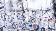 PAN Bundle Of Paper Garbage Close-up