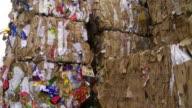 Bundles Of Cardboard Waste Tilt Up