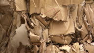 Bundles Of Cardboard Waste Tilt Up