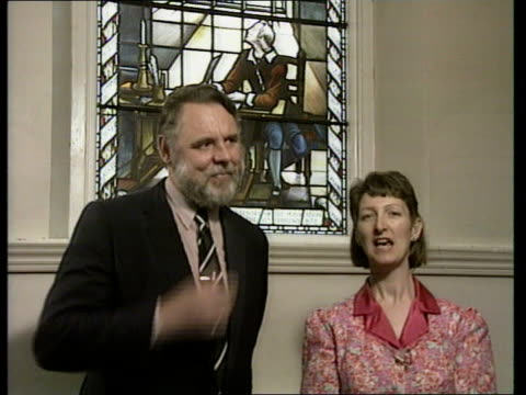 Bunyan postcard sender ENGLAND Bedford CMS Intvw Terry Waite Wonderful to meet Joy and see original window Bunyan was luckier than me Only Joy's card...