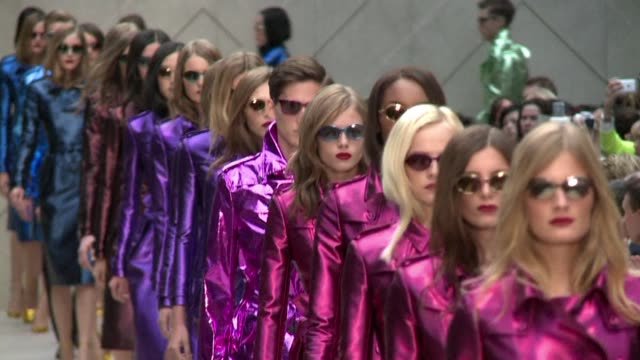 Burberry dazzled London fashion week with their colourful raincoat collection on Monday as one of the most anticipated collections of London Fashion...