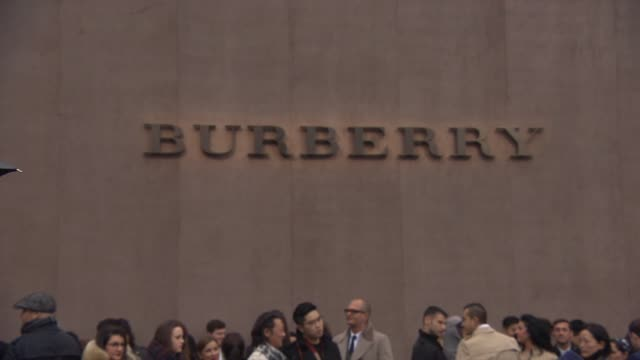 ATMOSPHERE Burberry Prorsum A/W 2015 Show on January 12 2015 in London England