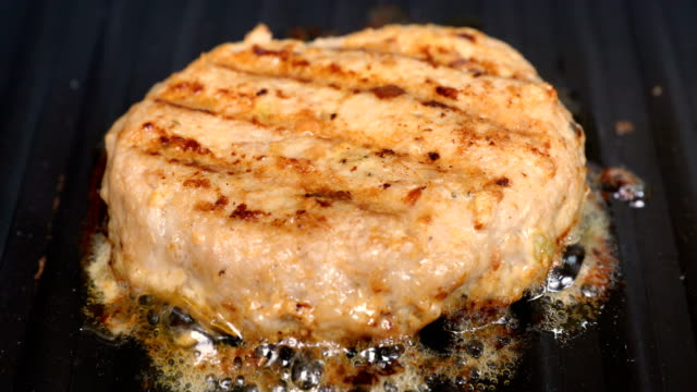 burger meat cutlet on Grill