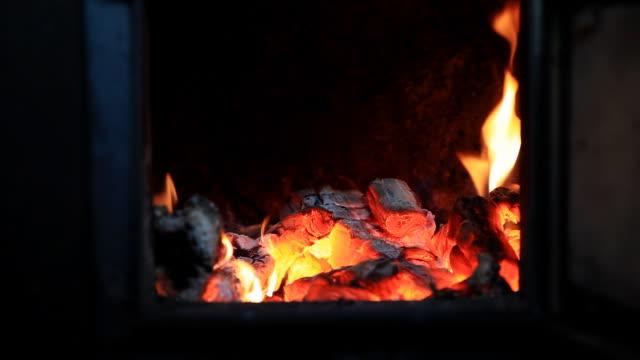 Burning Cinder in Stove