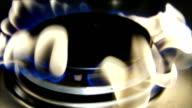 Burning gas in slowmotion
