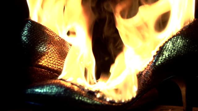 burning high heels