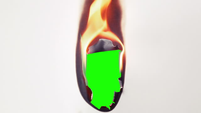burning Papier Übergang