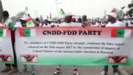 Burundi's ruling party organizes a protest in Bujumbura against a recent report of UN experts who called on the International Criminal Court to...