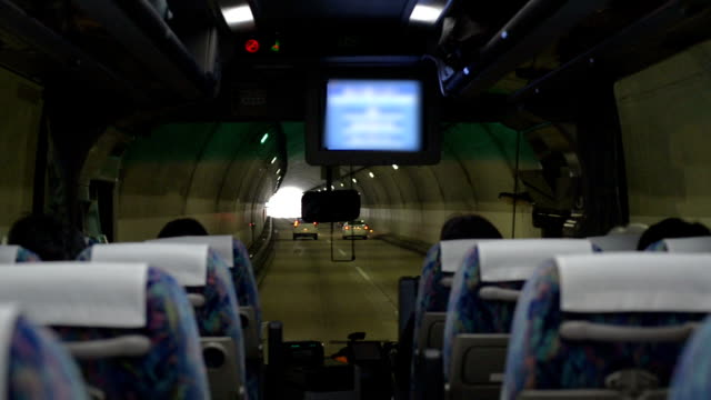 Bus running in tunnel