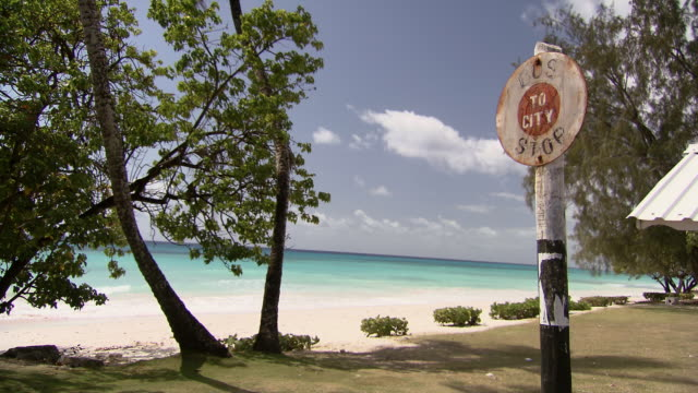 MS Bus stop by the beach / Brightown, Barbados