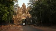 WS Buses at ancient temple / Angkor Wat, Siem Reap, Cambodia