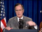 Bush Press Conference on Persian Gulf Conflict on March 01 1991 in Washington DC
