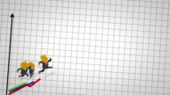 busines man run graph