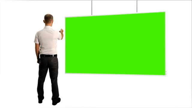 Business and Projection screen