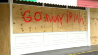 A business boarded up ahead of hurricane Irma in Naples Florida