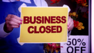 Business Closed Window Sign