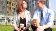 Business-meeting außerhalb Führungskräfte