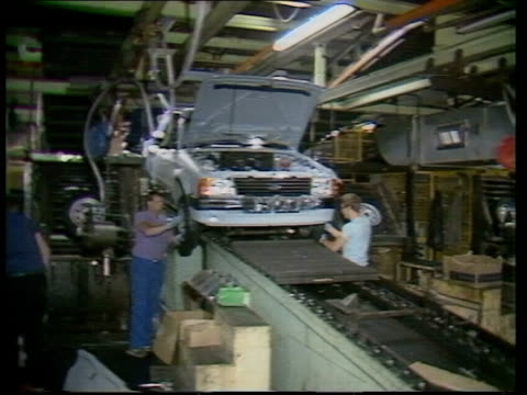 FordFiat Merger Talks Liverpool Halewood MS Ford Escort on production line MS Another ditto