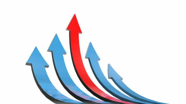 Business growth arrows