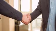 Business handshake of two men