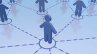 Business human social network