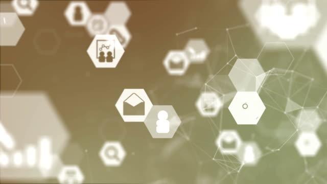 Business Infographics Animated Orange Background