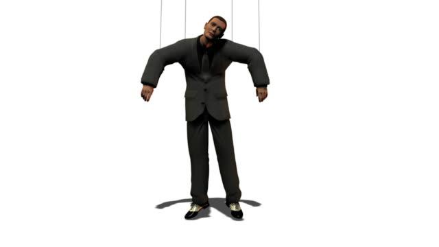 Business Man as Puppet