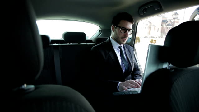 Business man in car